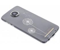 Transparant festival TPU hoesje Motorola Moto Z2 Play