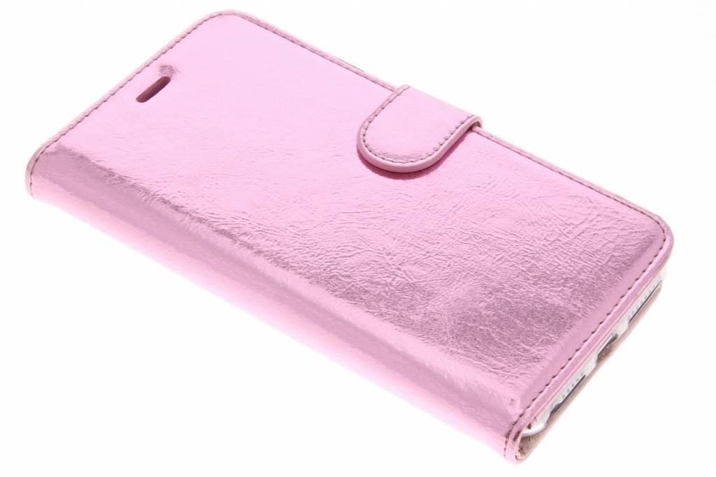 Roze glamour design TPU booktype hoes voor de iPhone 8 Plus / 7 Plus / 6(s) Plus