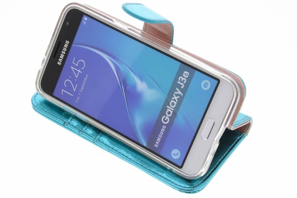 clairagiste Glamour Bleu Booktype Tpu Pour Samsung Galaxy / De J3 (2016) Njmqlk79o