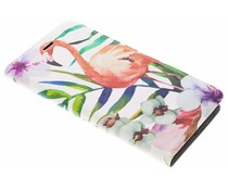 Flamingo Design Booklet Asus Zenfone 3 Zoom / Zoom S