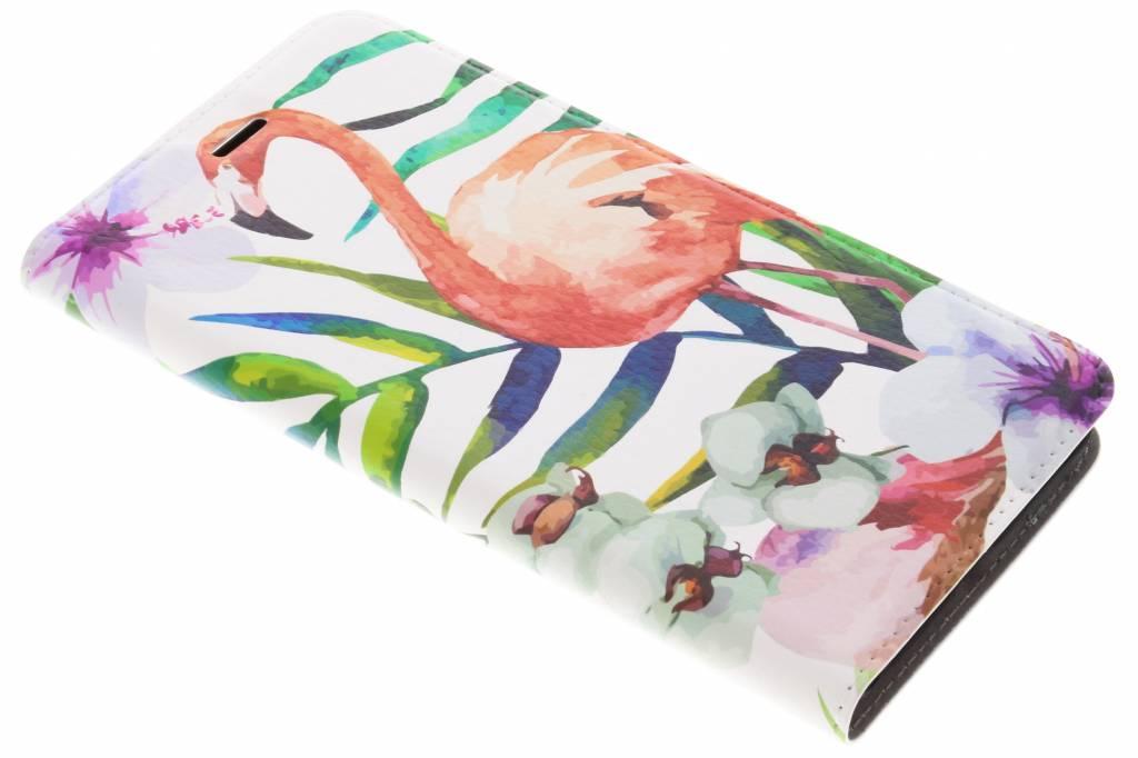 Flamingo Design Booklet voor de Asus Zenfone 3 Zoom / Zoom S