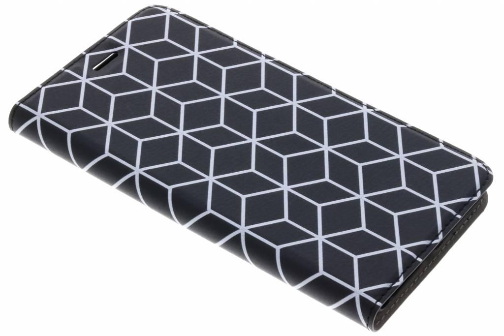 Cubes Black Design Booklet voor de Asus Zenfone 3 Zoom / Zoom S