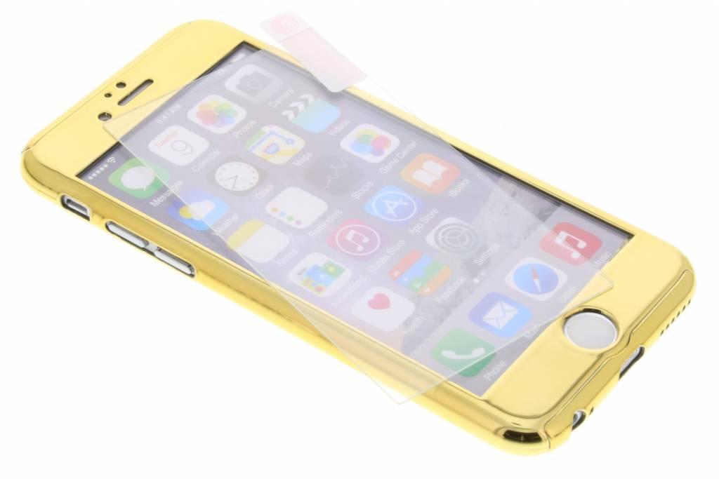 Gouden 360° metallic protect case voor de iPhone 6 / 6s