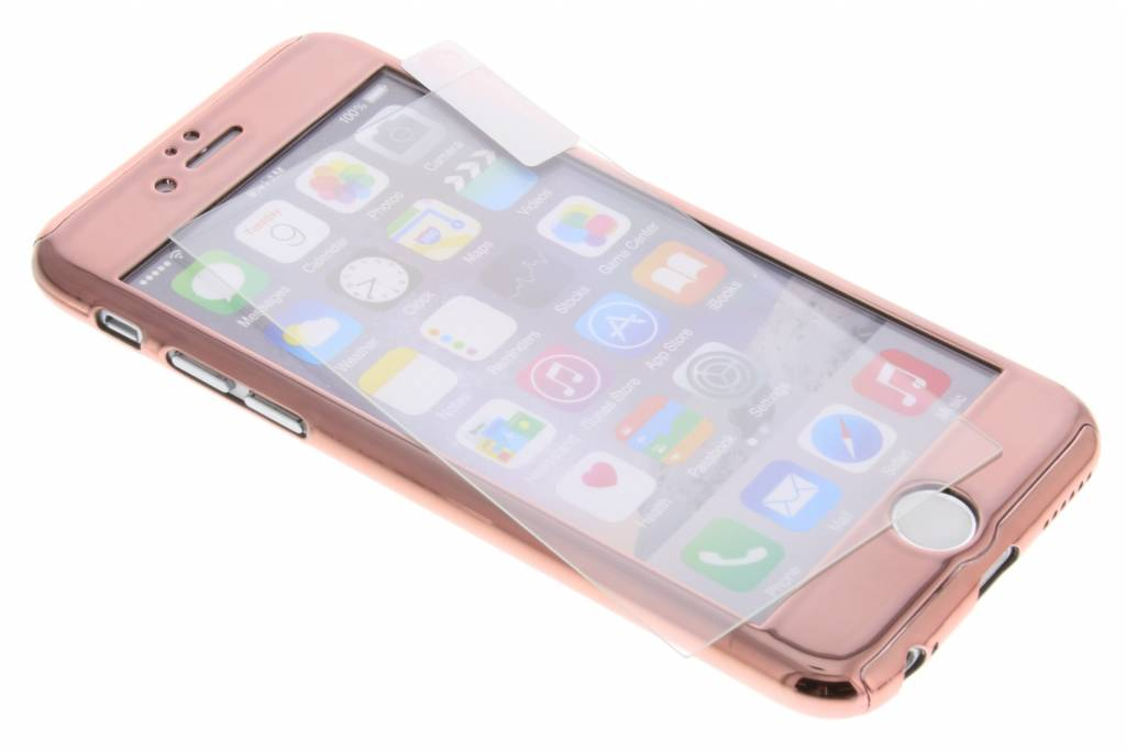 Rosé 360° metallic protect case voor de iPhone 6 / 6s