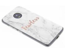 Quote design TPU hoesje Motorola Moto G5