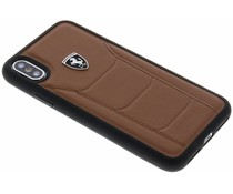 Ferrari Bruin Heritage Leather Hard Case iPhone X