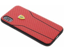 Ferrari Rood On Track Carbon Hard Case iPhone X