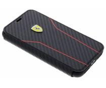 Ferrari Zwart On Track Carbon Booktype iPhone Xs / X