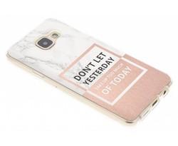 Quote design TPU hoesje Samsung Galaxy A3 (2016)