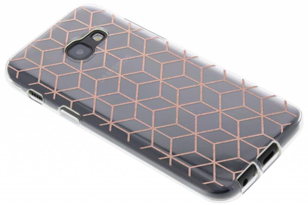 Cubes Rose Cas Tpu Design Or Pour Samsung Galaxy A3 BlUR5khQm