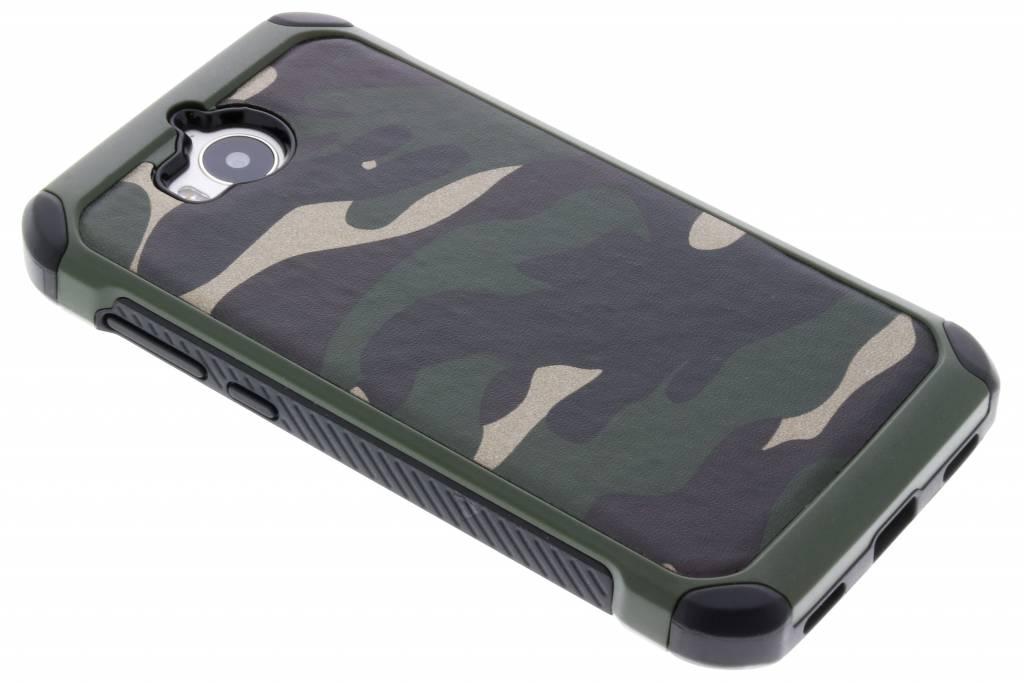 Groen army defender hardcase hoesje voor de Huawei Y6 (2017)