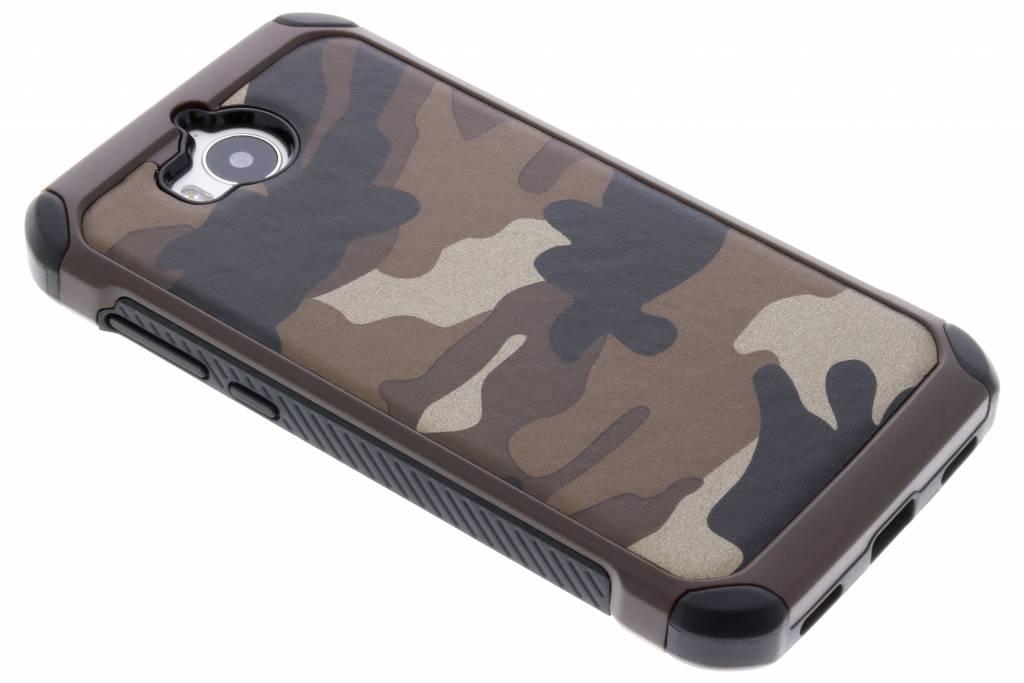 Bruin army defender hardcase hoesje voor de Huawei Y6 (2017)