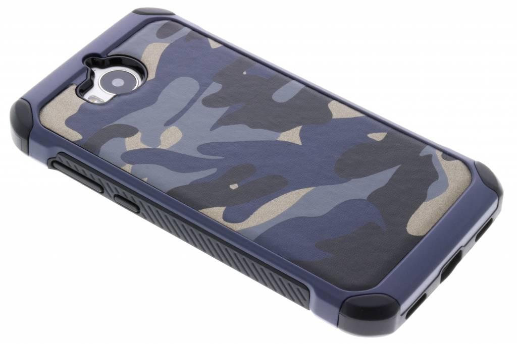 Blauw army defender hardcase hoesje voor de Huawei Y6 (2017)