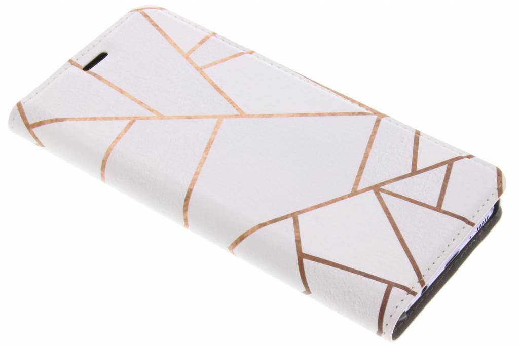 Wit Grafisch Design Booklet voor de Samsung Galaxy S8