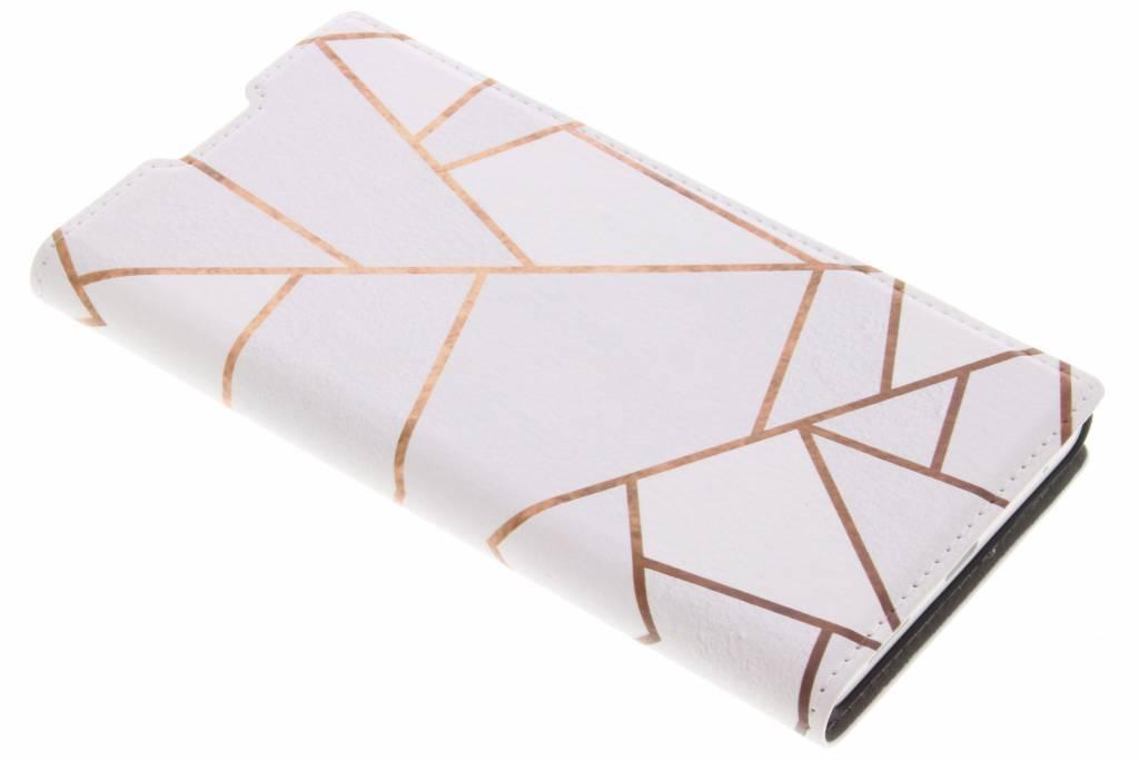 Wit Grafisch Design Booklet voor de Sony Xperia L1
