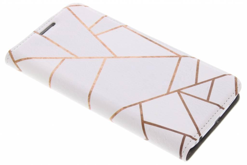 Wit Grafisch Design Booklet voor de Samsung Galaxy S6