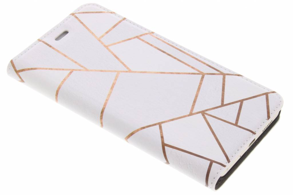 Wit Grafisch Design Booklet voor de Huawei P10 Lite