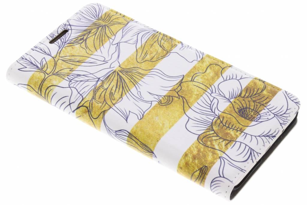 Bloemen Design Booklet voor de Samsung Galaxy J5 (2016)