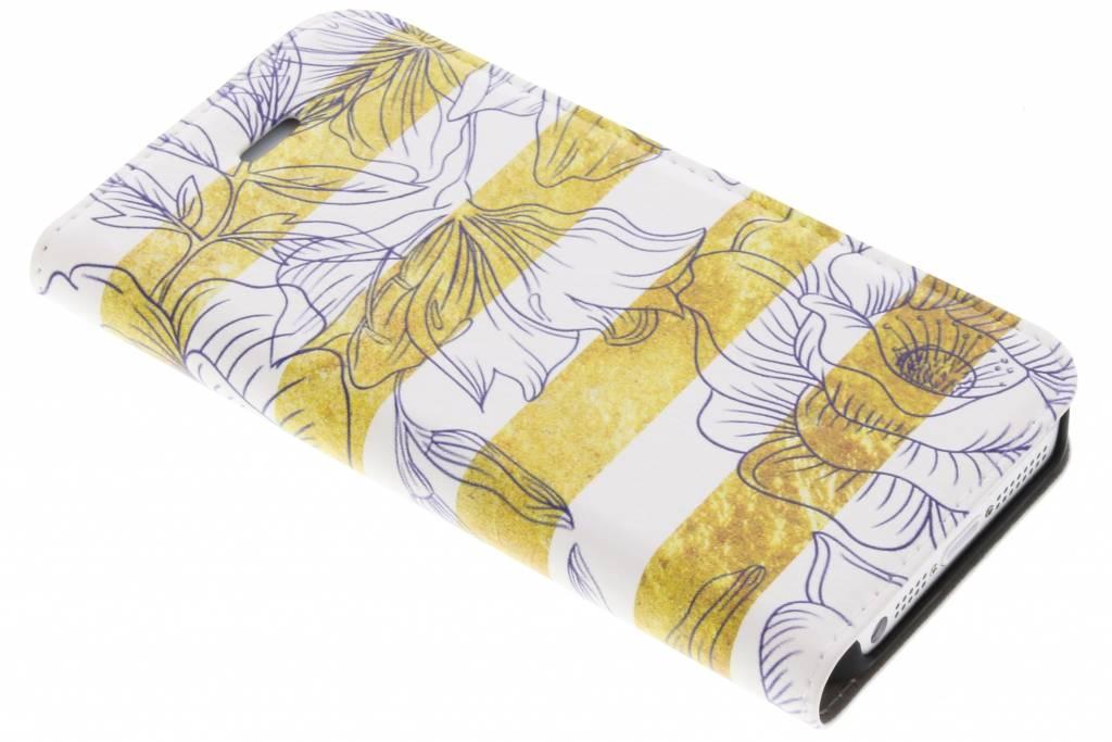 Bloemen Design Booklet voor de iPhone 5 / 5s / SE