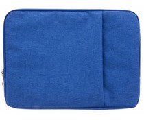 Blauw textiel universele sleeve 15 inch