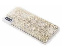 Guess Goud Liquid Glitter Hardcase iPhone X