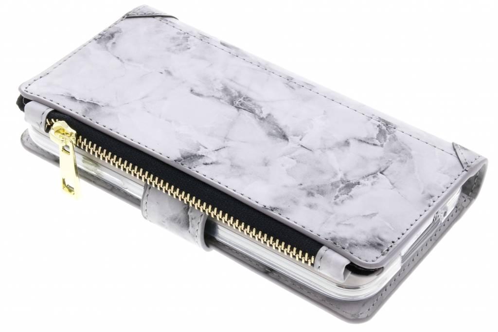 Grijze marmer design luxe portemonnee hoes voor de Samsung Galaxy S5 (Plus) / Neo