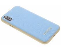 Guess Blauw Lederen Hardcase iPhone X