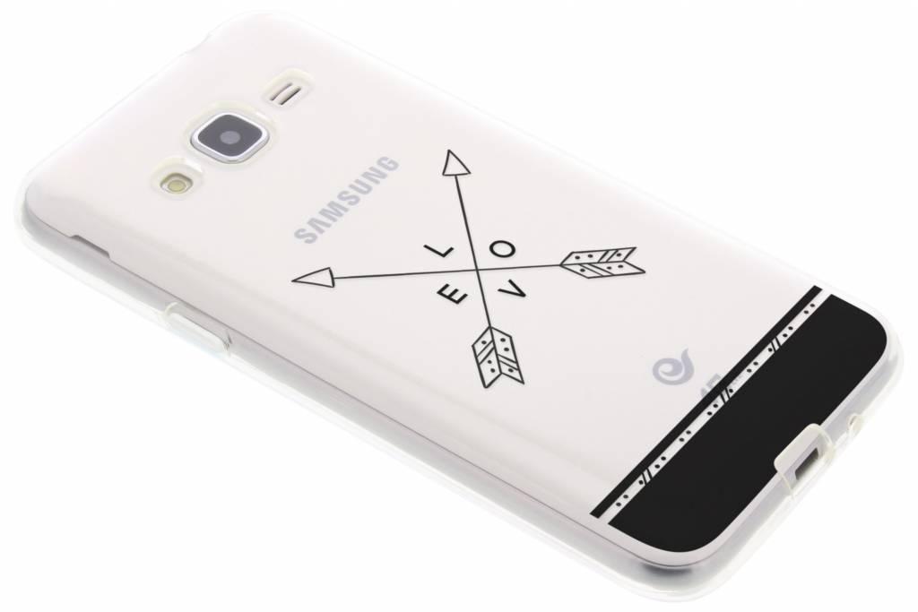 Love arrow transparant festival TPU hoesje voor de Samsung Galaxy J3 / J3 (2016)