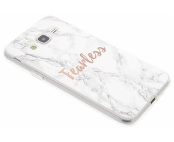 Quote design TPU hoesje Samsung Galaxy J3 / J3 (2016)