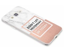 Quote design TPU hoesje Samsung Galaxy J3 / J3 (2016)