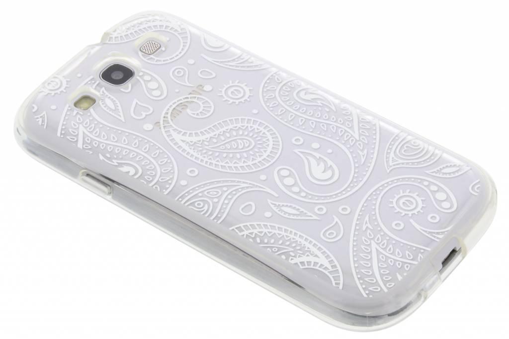 Paisley transparant festival TPU hoesje voor de Samsung Galaxy S3 / Neo