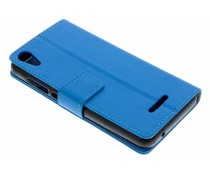 Blauw TPU Bookcase Wiko Lenny 4