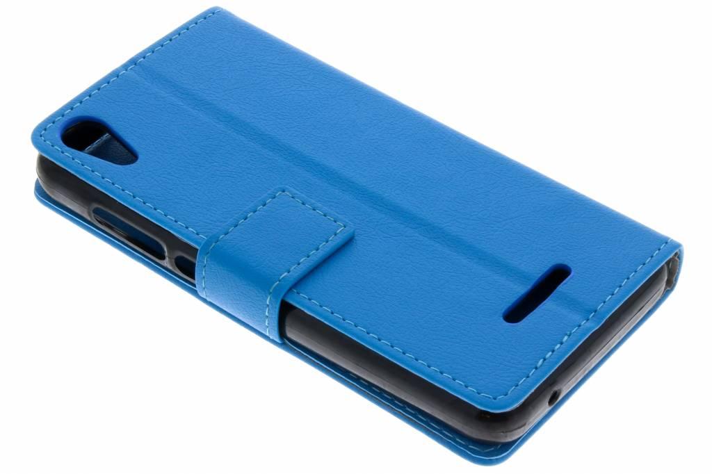 Blauwe TPU Bookcase voor de Wiko Lenny 4