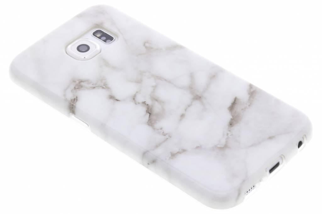 Grijs marmer siliconen hoesje voor de Samsung Galaxy S6