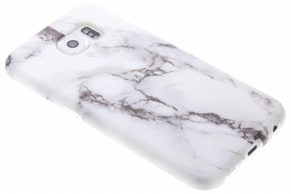 Wit marmer siliconen hoesje voor de Samsung Galaxy S6