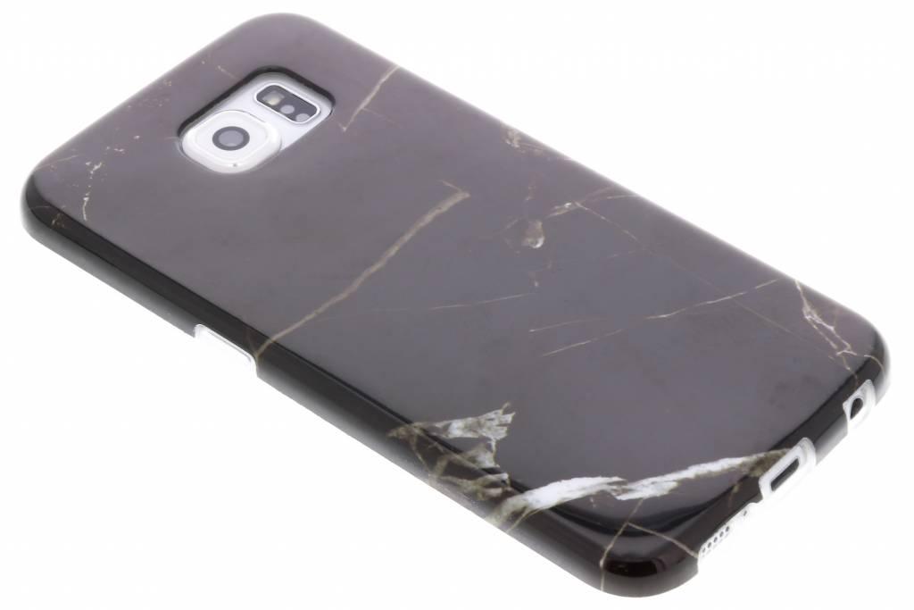 Zwart marmer siliconen hoesje voor de Samsung Galaxy S6