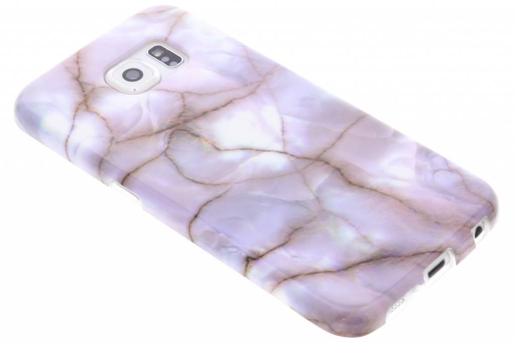 Paars marmer siliconen hoesje voor de Samsung Galaxy S6