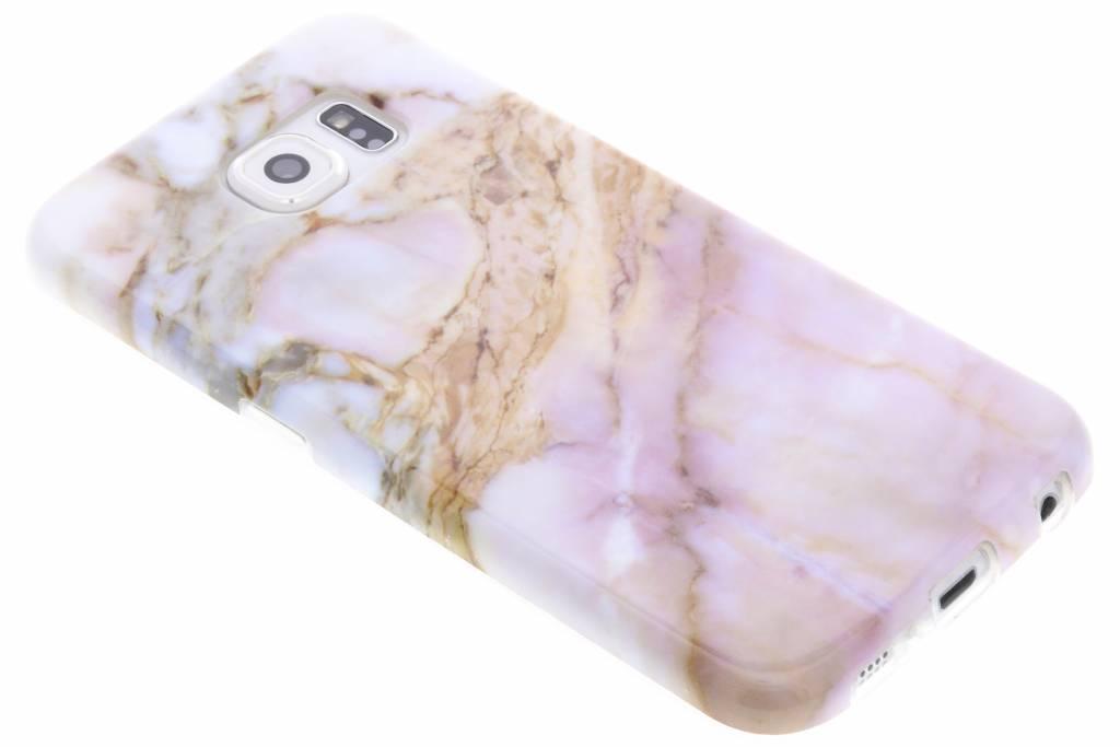 Roze marmer siliconen hoesje voor de Samsung Galaxy S6