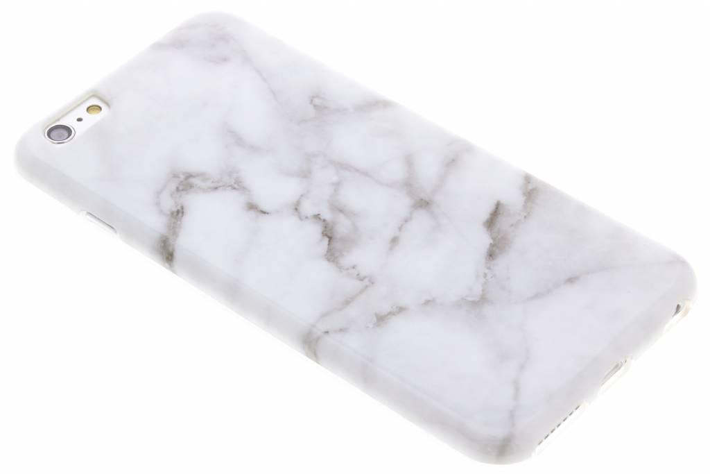 Grijs marmer siliconen hoesje voor de iPhone 6(s) Plus