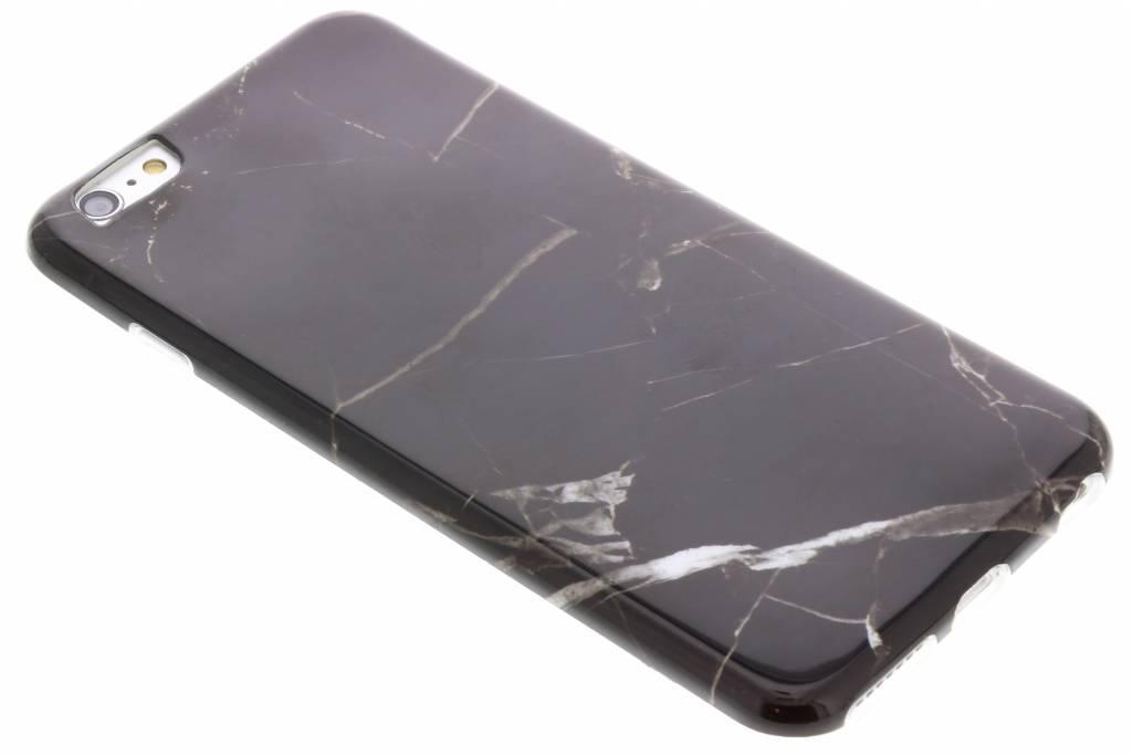 Zwart marmer siliconen hoesje voor de iPhone 6(s) Plus