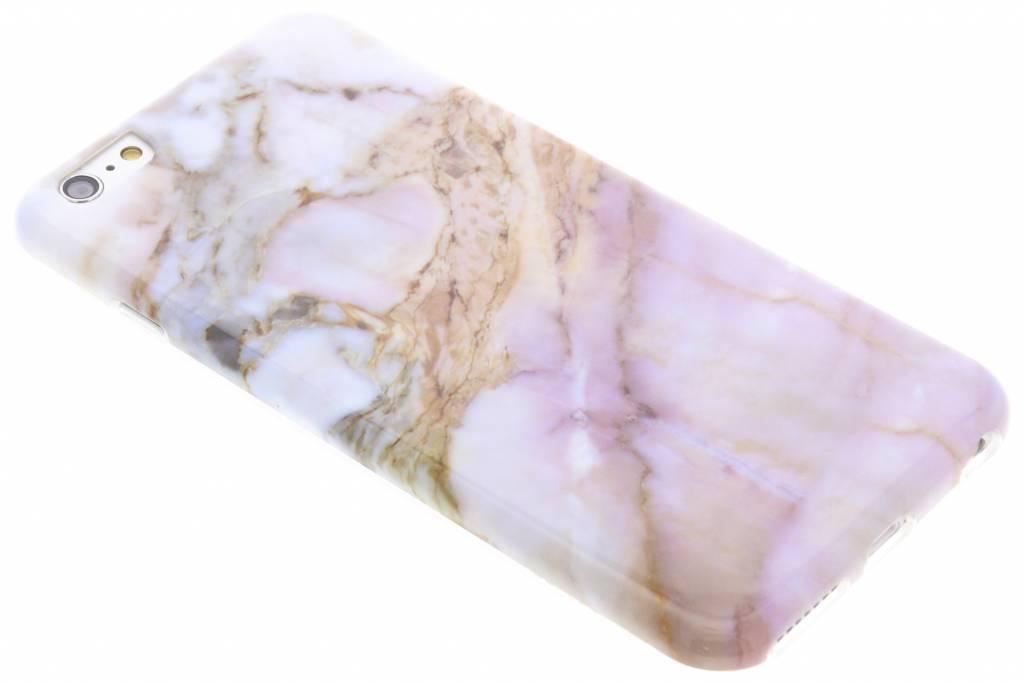 Roze marmer siliconen hoesje voor de iPhone 6(s) Plus