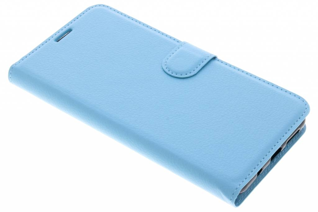 Blauwe Litchi Booktype Hoes voor de Wiko View XL