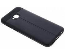 Zwart Lederen siliconen case Asus ZenFone 4 Selfie Pro