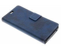 Blauw Vintage look booktype Wiko Lenny 4