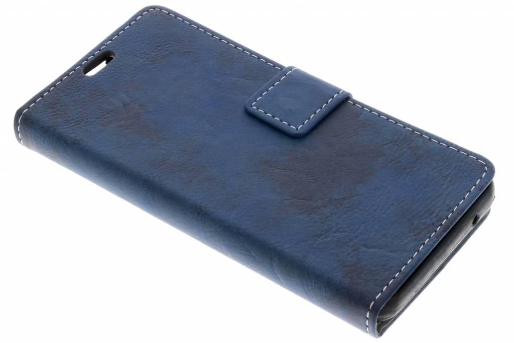 Blauwe Vintage look booktype voor de Wiko Lenny 4