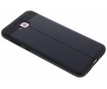 Zwart Lederen siliconen case Asus ZenFone 4 Selfie
