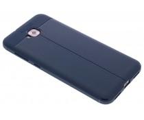 Donkerblauw Lederen siliconen case Asus ZenFone 4 Selfie