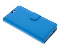 Blauw Litchi Booktype Hoes Wiko Jerry 2