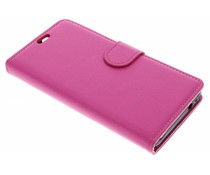 Roze Litchi Booktype Hoes Wiko Jerry 2