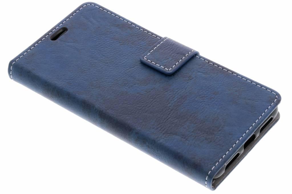 Blauwe Vintage look booktype voor de Asus Zenfone 4 Max ZC520KL
